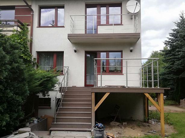 Balustrada Schody Zabezpieczenia Ze Stali Nierdzewnej INOX