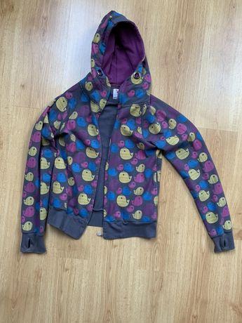 Bluza na zamek w kolorowe wzory