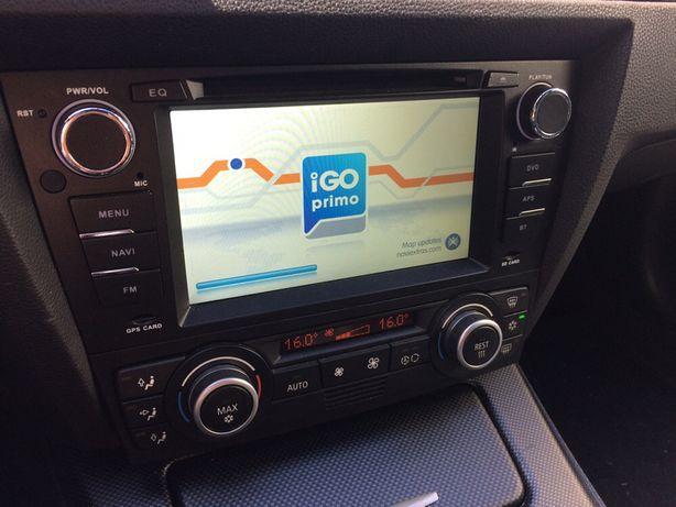 Rádio GPS Mãos Livres - BMW E90, E91, E92 e E93 • USB • Bluetooth • DV
