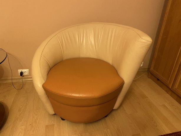 Zestaw sofa rozkładana + 2 fotele / skóra naturalna Warszawa Sulejówek