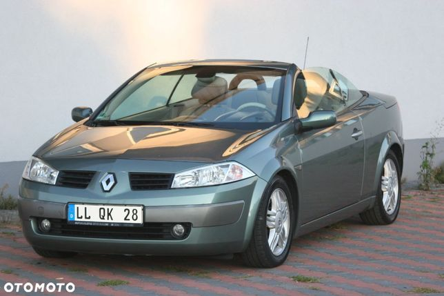Renault Megane Kabrio CC benzyna 1.6 jasne wnetrze Klimatronik mały przebieg Karmann