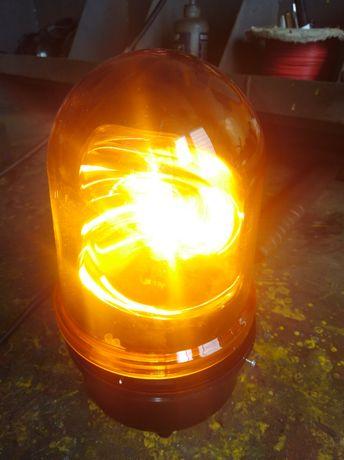 Lampa, sygnalizator świetlny signaltechnik Werma z uchwytem
