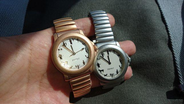 Zegarek Esprit na bransolecie gumka SREBRNY