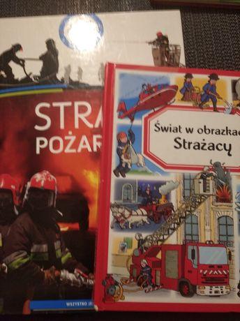 """Książki o tematyce Straży """"Świat w obrazkach Strażacy""""""""Straż pożarna"""""""