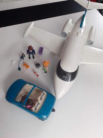 Play mobil samolot z wyposażeniem, dodatki