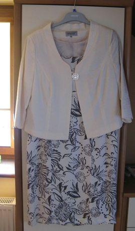 Sukienka z zakietem elegancka na wesele rozmiar 44