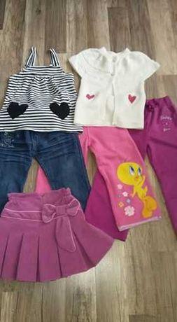 Ubranka dla dziewczynki (rozmiar 98)