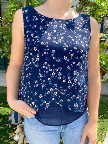 Blusa Floral Bershka
