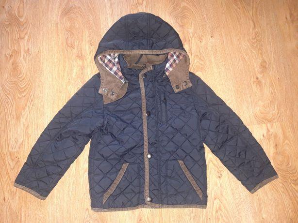 Granatowa, pikowana kurtka dla chłopca, rozm.104/110