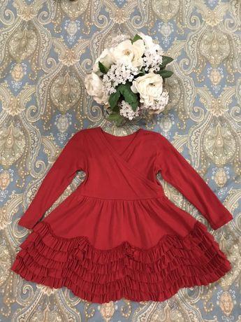Красное нарядное платье 12 мес . Місяців