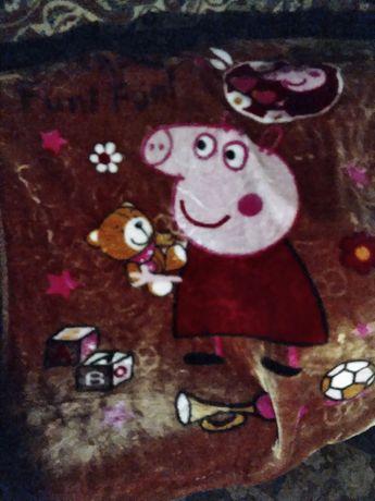 Супер плед свинка Пеппи для малышей