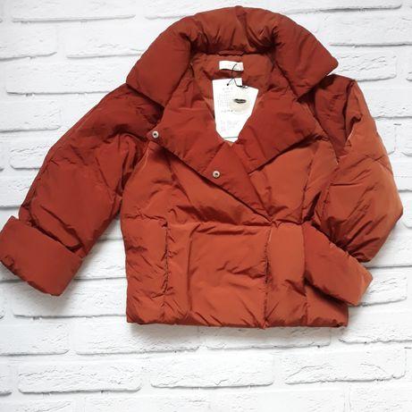 Зимняя куртка косуха, пуховик 140 розмер.