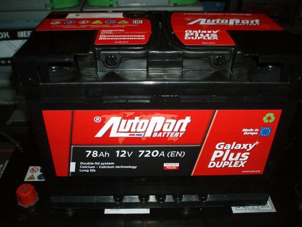 Akumulator 12V 78Ah AutoPart Plus Duplex nowy Kielce-dowóz gratis