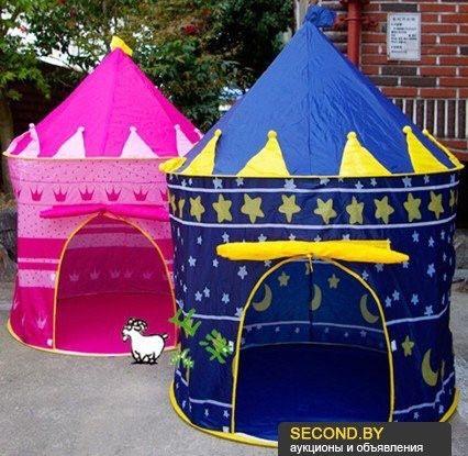 Детская игровая Палатка Замок Шатер. палатки: 105 см. Высота: 135 см.