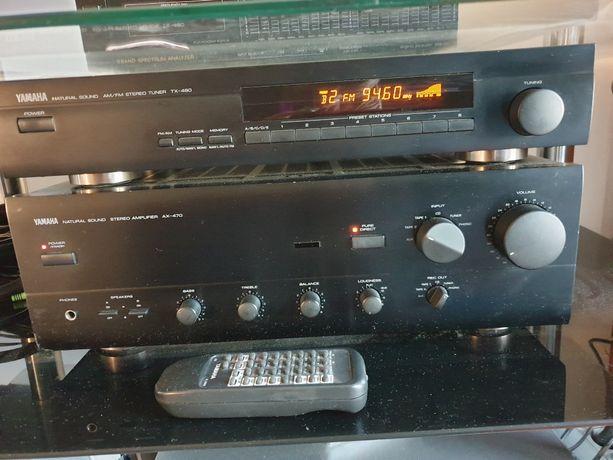 Wzmacniacz Yamaha AX 470 Tuner TX 480 Stan BDB Pilot !!
