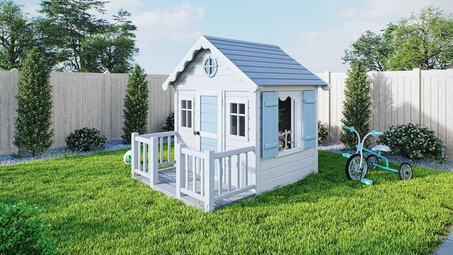Drewniany domek ogrodowy dla dzieci Smyk, plac zabaw od Dżepetto!