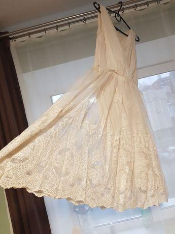 Платье с кружевом, очень красивое