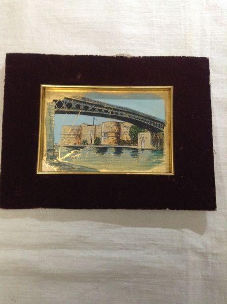 картина на серебряной пластине Джанфранко Феррони (1927-2001)