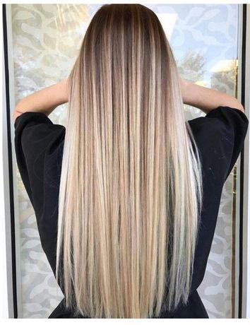 Наращивание волос. Модель