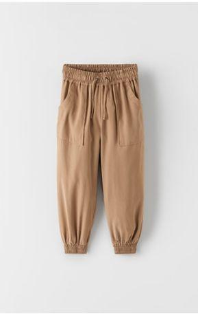 Zara nowe spodnie, luźne, przewiewne 134