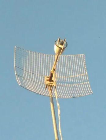 Комплект антенна Ольхон 3G 4G + параболическая сетка ТМ Мощные антеннs