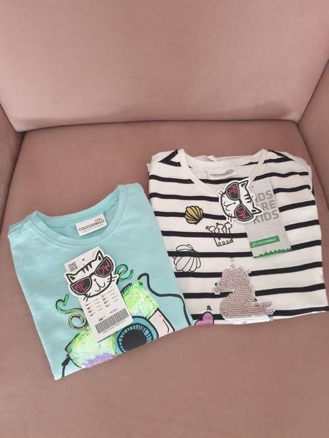 2 nowe z metkami T-shirty coccodrillo 110