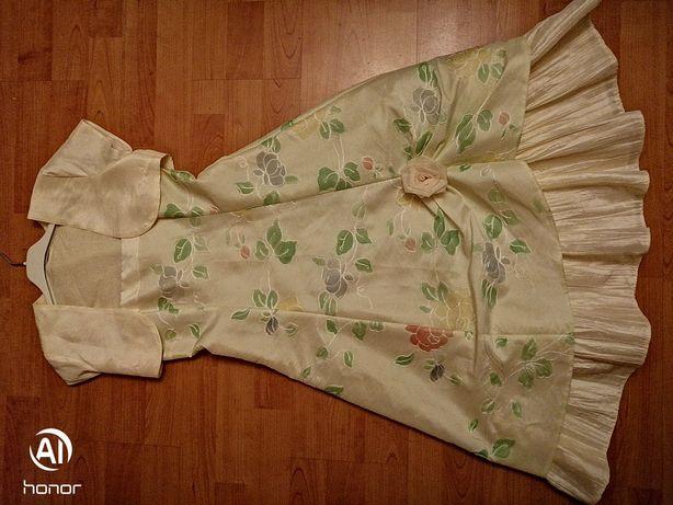 Super sukienka dziewczynka 134-140 plus bolerko