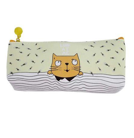 Пенал котик, для канцтоваров, милый «kitty» (желтый)