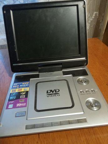 Продам портативный DVD плеер, есть TV