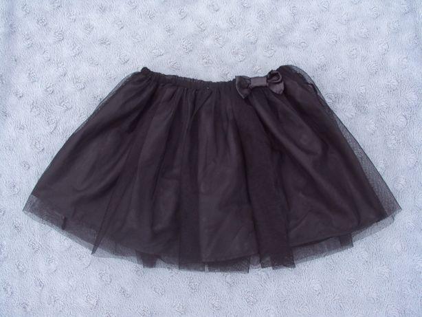 H&M czarna spódniczka tiul 128