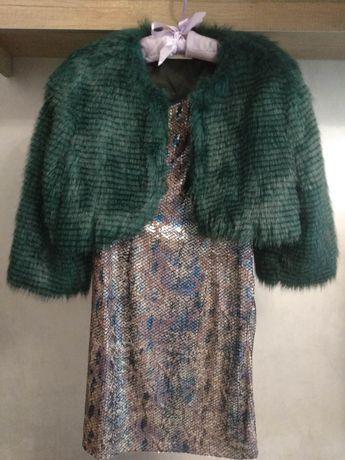 Платье паетки шубка orsay 44-46p