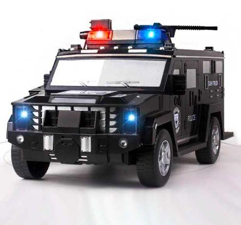 Игрушка сейф машинка копилка электронная полицейская с кодовым замком