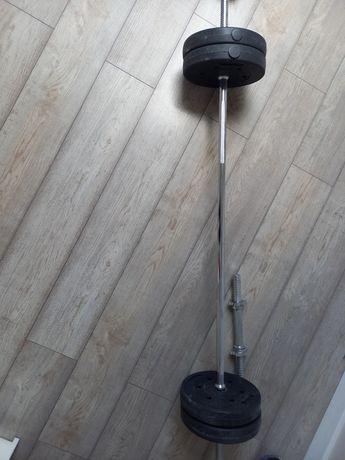 Obciążenie treningowe sztanga długa, krótka + obciążenie