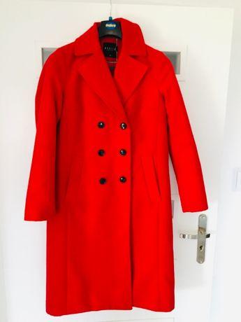 Mohito płaszcz czerwony midi 40 L ocieplany