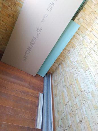 Гипсокартон, профиль, уголки, грунтовка, сетка (остатки после ремонта)