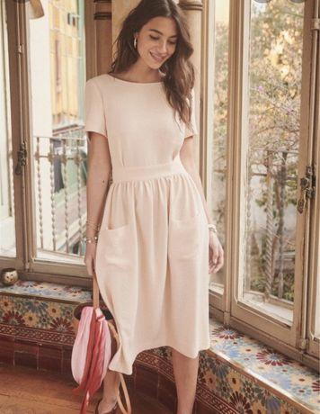 Vestido Sézane Odalie rosa  - portes incluídos