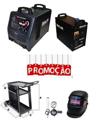 Aparelho/Soldadora/Máquina de Soldar TIG AC/DC Roluk em Promoção