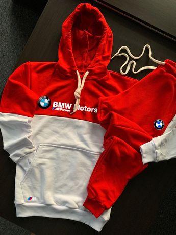 Теплые премиальные мужские осенние спортивные костюмы. Худи/Штаны. BMW