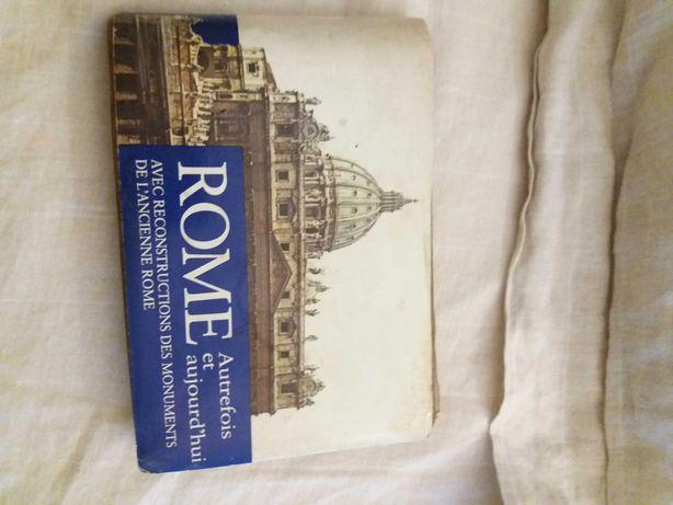 """Livro """"Guia de Roma"""" muito antigo"""