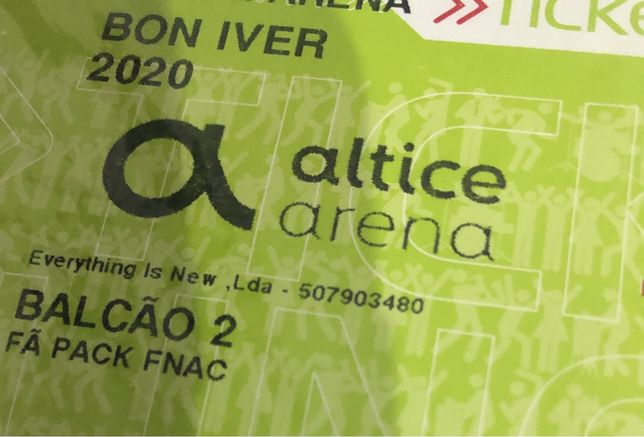 Bon Iver - 2 bilhetes concerto - Altice Arena 11/11/2021