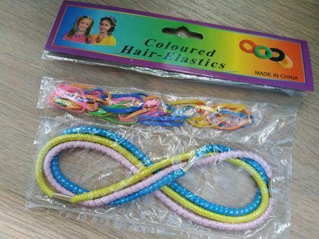 Kolorowe gumeczki do włosów dla dzieci