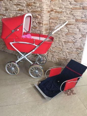 Wózek dla lalek retro 2 części gondola i spacerówkaówka