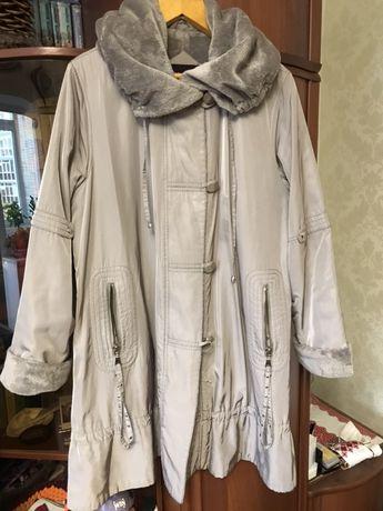 Пальто-плащ на меху, 54-58рр