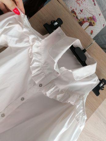 Biała bluzeczka bluzka hiszpanka hiszpanka zakończenie roku