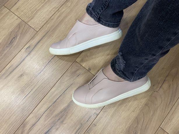 Слипоны кеды кроссовки пудровые пудра 37 размер