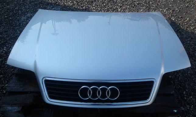 Maska przód pokrywa silnika z grillem AUDI A6 C5 Kolor: LY7W