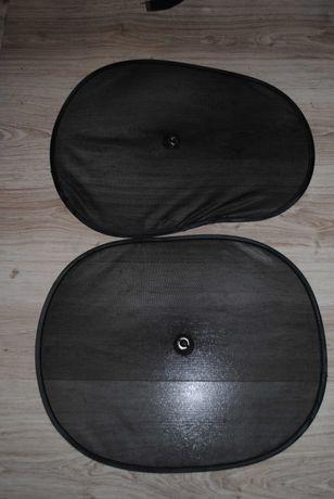 osłonki samochodowe 2szt czarne
