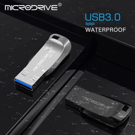 Новая металлическая USB флешка 64GB цвет серебро. Бесплатная доставка