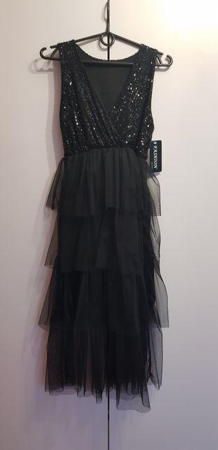 NOWA! Prześliczna sukienka cekiny + tiul Idealna na wesele. Studniówka