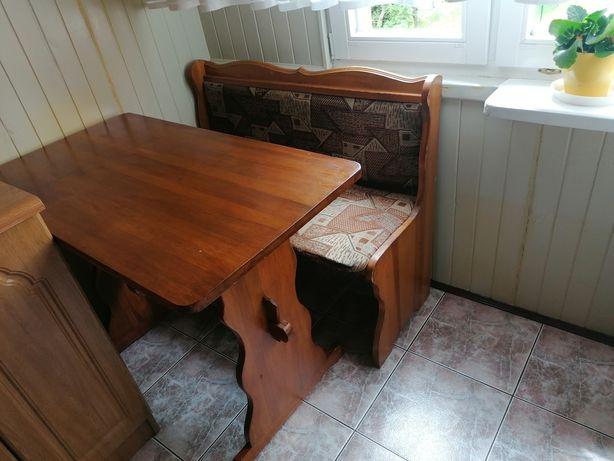 Sprzedam ławkę ze stołem drewnianym